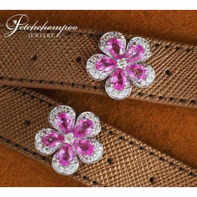 [024583] Pink Tormaline with diamond Earring Discount 59,000