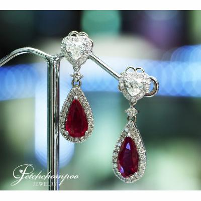 [024898] Diamond and Ruby Earring Discount 89,000