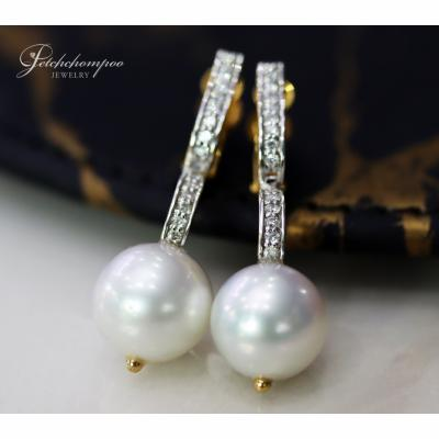 [025128] Southsea Pearl With Diamond Earring Discount 39,000