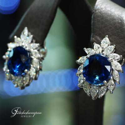 [25195] Madagasca Blue Sapphire Earring with AIGS Certificate Discount 699,000