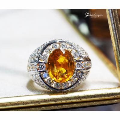 [024923] Yellow Saphire with diamond ring Discount 169,000
