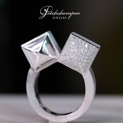 [022951] Italy White Gold with diamond Ring Discount 49,000
