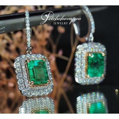 [024201] Emerald and diamond earring Discount 79,000