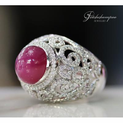 [025161] 12 Carat Ruby with Diamond Ring Discount 59,000