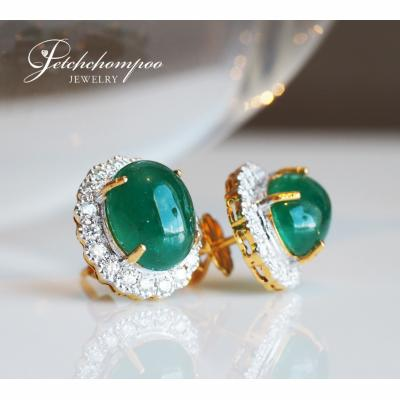 [024424] Emerald with diamond earring Discount 49,000