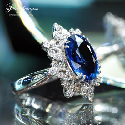 [25192] 5.92 Carats blue sapphire with diamond ring Discount 290,000