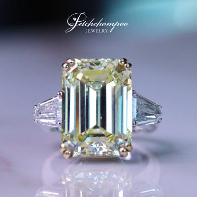 [016045] Fancy Yellow 8.76 cts diamond ring Discount 3,990,000