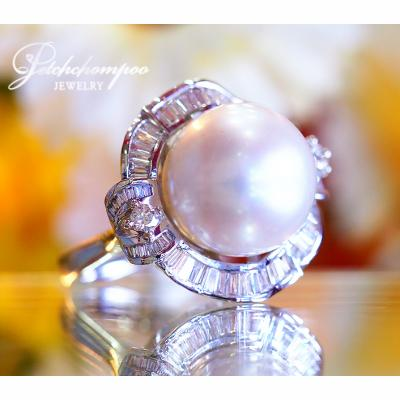 [022428] 15 mm South Sea Pearl With Diamond Ring Discount 69,000