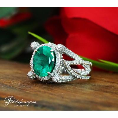 [025063] Emerald and diamond ring Discount 89,000