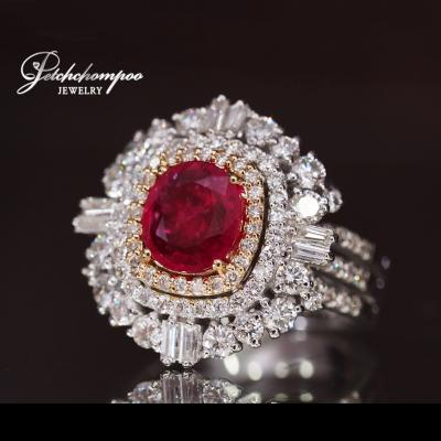 [023730] Ruby with diamond ring Discount 89,000