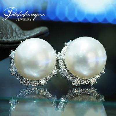 [024063] South Sea with diamond earring Discount 89,000