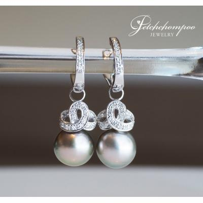 [024452] Pearl with diamond earring Discount 39,000