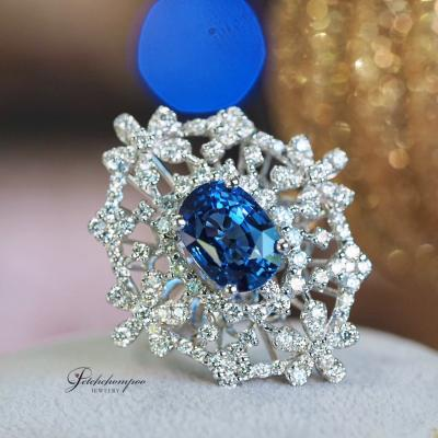 [022708] Blue Sapphire With Diamond Ring Discount 290,000