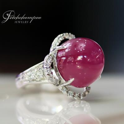 [025165] แหวนทับทิม 15 กะรัตล้อมเพชร ลดราคาเหลือ 69,000