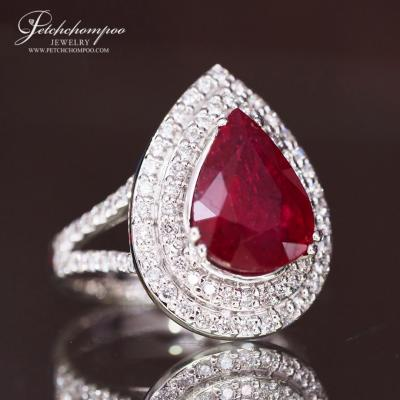 [023726] Ruby with diamond ring Discount 79,000
