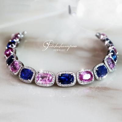 [25586] Blue Sapphire and Pink Sapphire with diamond Bracelet  390,000