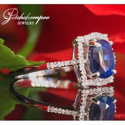[023169] Blue Sapphire With Diamond Ring Discount 29,000