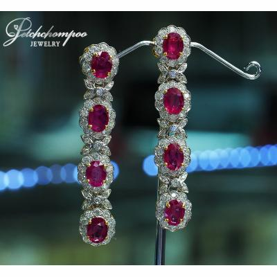 [023335] Ruby and diamond earring Discount 239,000