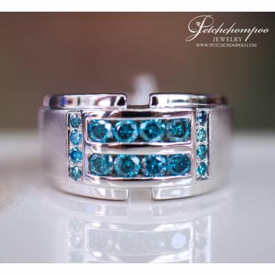 [024668] Blue Color Diamond Ring Discount 49,000