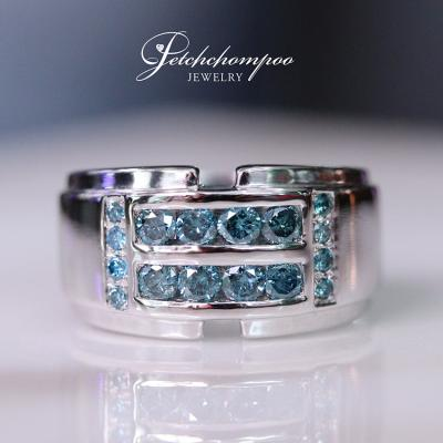[024668] Blue Color Diamond Ring Discount 35,000