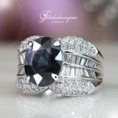 [25499] แหวนไพลินสด Color Change ฝังเพชรใบเซอร์ E-mil  139,000