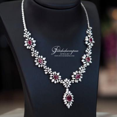 [024210] Ruby with diamond necklace Discount 290,000