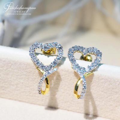 [007131] Diamond heart earrings Discount 39,000