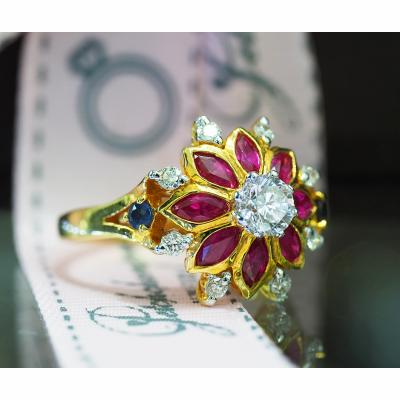 [023327] Diamond with ruby ring Discount 49,000