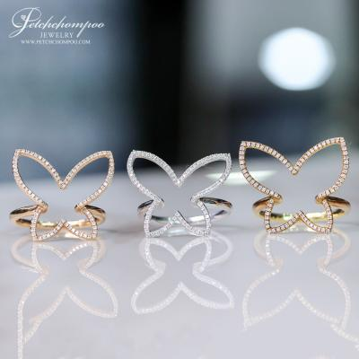 [022120] Butterfly Diamond ring Discount 9,900
