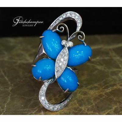 [025004] Turquoise with Diamond ring Discount 49,000