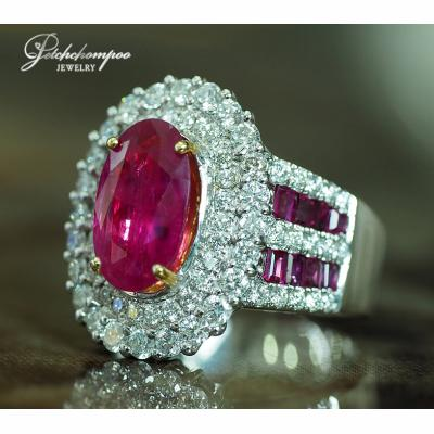 [023494] Ruby with diamond ring Discount 99,000
