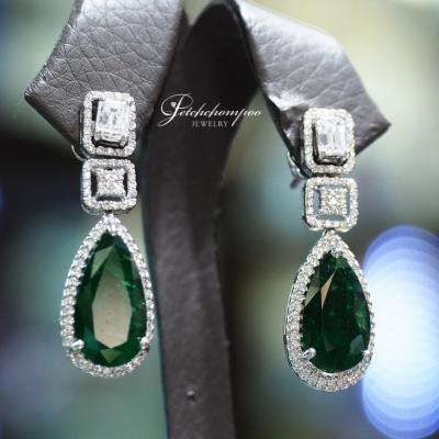 [25197] Emerald with diamond earring Discount 290,000