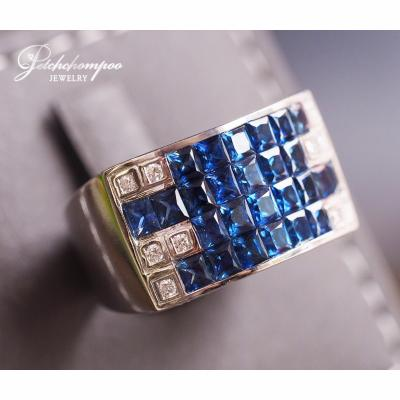 [023606] Blue sapphire with diamond ring Discount 39,000