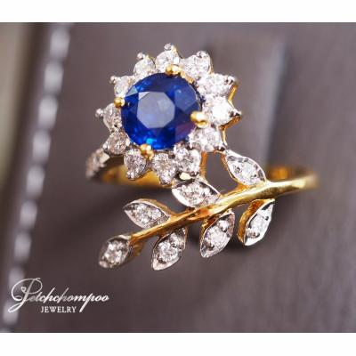 [023610] Blue sapphire with diamond ring Discount 39,000