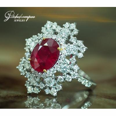 [023496] 3.16 carat Vivid red ruby ring Discount 390,000