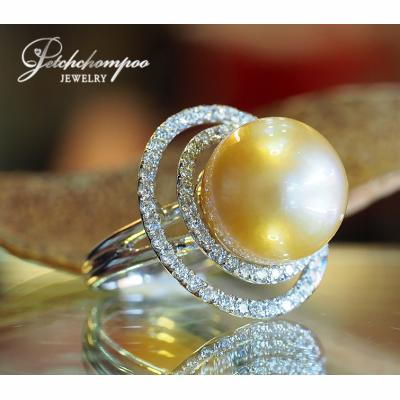 [023387] golden South Sea with diamond ring Discount 59,000